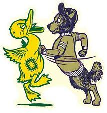 University  Washington Huskies BEAT Oregon  Vintage Looking Travel Decal Sticker