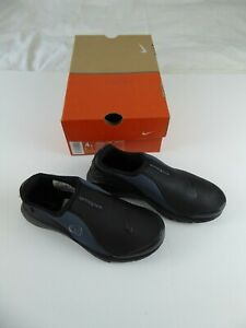 NIKE CHANJO BLACK LADIES SLIP-ON TRAINERS SIZE UK3.5 EUR36 - NEW AND BOXED