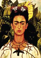 Frida Kahlo - A3 size 29.7x42cm Decor QUALITY Art Canvas Print Poster Unframed