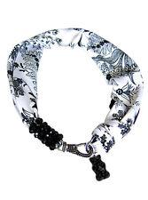 Haribo Bijoux Schal schwarz weiß mit Swarovski Schmucksteinen 360508500
