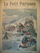 ALGERIE PIC FERUKA MISSION GEODESIQUE BLOQUéE JOURNAL LE PETIT PARISIEN 1908