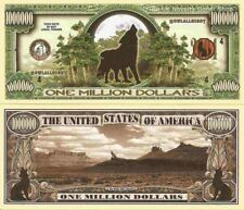 Wolves Howling Wolf One Million Dollar Bills x 2 New