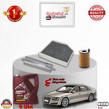 Filtres Kit D'Entretien + Huile Audi A8 III 3.0 Tdi 184KW 250CV Partir 2011->