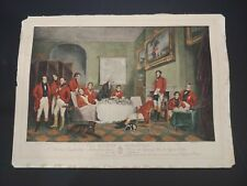 The Melton Breakfast 1839 Hand-Colored Engraving
