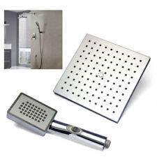 Bathroom Rain In Wall Mounted Handheld Shower Head Faucet Set Mixer Tap Set UK