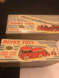 Miniatures Pompiers Dinky Toys 1/43 Véritable D Origine Avec Leur Boîte