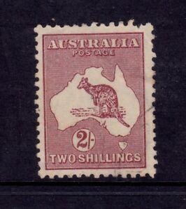 Kangaroo Used CofA Wmk 2/- Maroon - Type B SG 212
