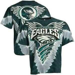 "Philadelphia Eagles ""V"" Design Tie Dye Shirt by Liquid Blue - Adult X-Large"