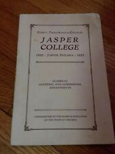 Vintage 1922 - 1923 Jasper College 23rd Annual Catalog Book ~ Indiana