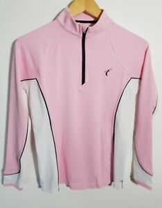 1 NWT WOMEN'S PETER MILLAR PULLOVER, SIZE: X-SMALL, COLOR: PINK/WHITE (J302)