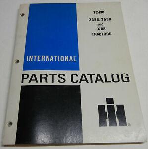 Farmall, International 3388, 3588, & 3788 TC-190 OEM Factory Parts Catalog