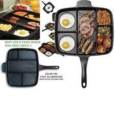 ORIGINAL MAGIC PAN NON-STICK MULTI-SECTION 5-IN-1 Frying Grill Hob Magicpan NEW