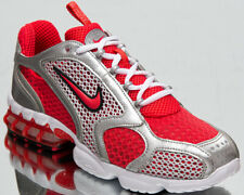 Nike Air Zoom Spiridon Cage 2 Men's Red White SIlver Lifestyle Sneakers Shoes