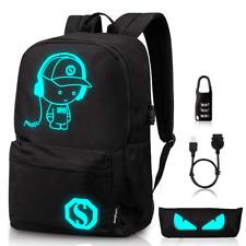 Backpack Ezonteq Anime Cartoon Music Boy Laptop Night Light USB Charging Port
