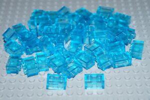 LEGO  40 pcs TRANS BLUE CLEAR BRICKS 1x2  No 3065 (3004)