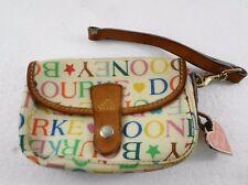 Dooney & Bourke Off-White Signature Wristlet Small Handbag Purse