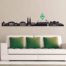 Wandtattoo Werder Bremen Skyline mit Logo farbig Fanartikel Fanshop Wanddeko