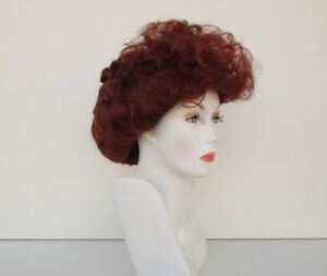 I LOVE LUCY LUCILLE BALL COSTUME WIG FOX RED VICTORIAN GIBSON STYLE CURLY UPDO