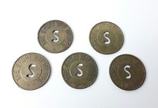 Five (5) The Short Way Bridge Token Newport Kentucky Good For One Passage