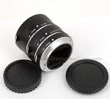 Metal AF MACRO Auto Extension Tube Set For Canon 60D 70D 5D3 5D2 650D 700D 100D