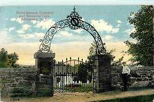 A Boy Stands Near the Revolutionary Cemetery & Gate, Johnstown Ny 1914