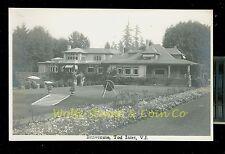 RPPC Benvenuto Tod Inlet Vancouver Island BC Canada Real Photo Postcard B2466