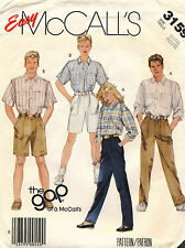 1980's VTG McCall's Unisex Shirt,Pants&Shorts Pattern 3159 Bust/Chest 32.5-34