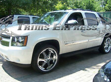 2007- 2008.5 Chevy Suburban/Avalanche 4Pc Chrome Body Side Molding Trim Overlay