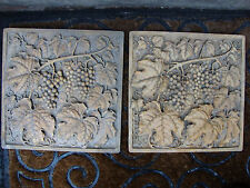 Grapes backsplash tile wall plaque sculpture home garden stone marble travertine