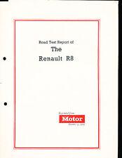 1962 1963 Renault R8 Road Test Brochure