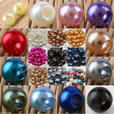 Acrylic Faux Pearl DIY Jewelry Making Large Hole European Beads 12/18/14/16mm