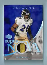 ED REED 2007 UPPER DECK TRILOGY SUPER NOVA 3 COLOR GAME WORN PATCH # 1/79 RAVENS