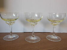 Vintage Antique Collectable Retro 3 Lemon Yellow Liqueur Glasses