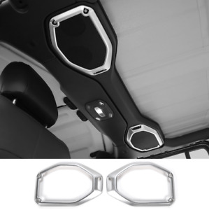 Car Top Roof Speaker Cover Trim Decor Ring For 2018-2020 Jeep Wrangler JL