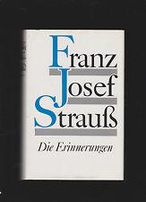 FRANZ JOSEF STRAUß - DIE ERINNERUNGEN  SIEDLER VERLAG BERLIN 1989