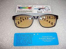 Computer Reading Glasses UV400 TV Radiation Protection Black/Demi Frame M/F