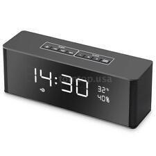 8W Bluetooth Wireless Speaker Mic Alarm Clock TF SD USB FM Radio MP3 Player M4X8