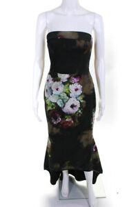 Black Halo Womens Dylan Gown Green Size 2 10981363