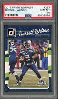 Russell Wilson Seattle Seahawks 2016 Panini Donruss Football Card #263 PSA 10