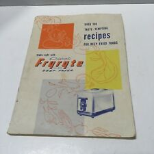 Vintage Fryryte Deep Fryer Use and Care Manual with Recipes by Dulane Inc