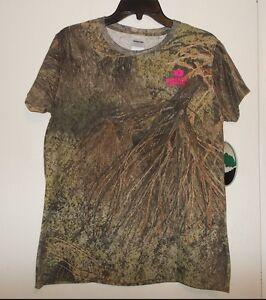 Mossy Oak Women's Size 2XL Green Camouflage Short Sleeve T-Shirt