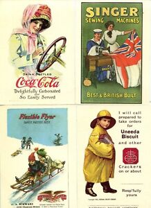 OLD TIME ADVERTISING, 8 REPRO POST CARDS