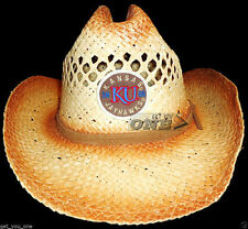 KANSAS JAYHAWKS Taylor Made Cowboy Hat Straw Woven KU Unisex Top of World NEW