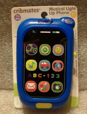 Cribmates Musical Light Up Phone Baby Educational Learning Toy BLUE NEW