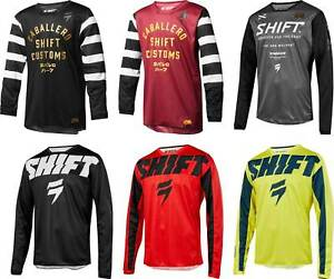 Shift Youth White Label Jersey - MX Motocross Dirtbike Offroad ATV MTB Boys Gear