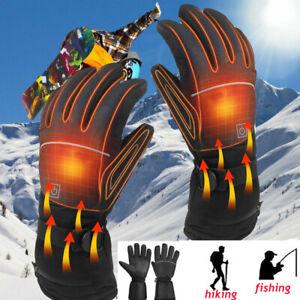 Motorbike Motorcycle Heated Gloves Winter Warm Battery Electric Waterproof Glove