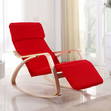 Relaxstuhl Schwingsessel Schwingstuhl Schaukelstuhl Stuhl Stühle rot