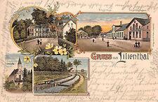 Gruss aus Lilienthal Ortsstrasse, am Klosterhofer Strasse Litho Postkarte 1897