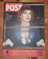 PICTURE POST 6TH NOV 1954 GINA LOLLOBRIGIDA FRONT COVER
