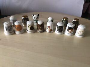 Thimbles Collection job lot No.4  14 Thimbles CATS